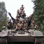 Juggesellenabschied mit Panzerfahren