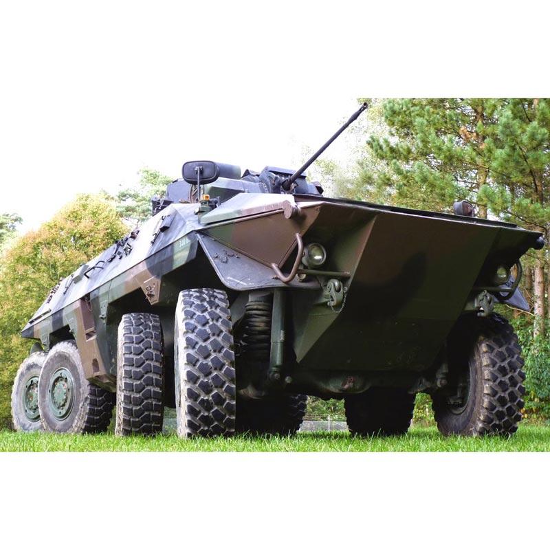 Luchs Radpanzer fahren in Niedersachsen
